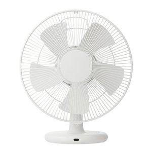 プラスマイナスゼロ 【扇風機】マイコン式テーブルファン(リモコン付 ホワイト)PLUS MINUS ZERO ±0 XQS-V020-W