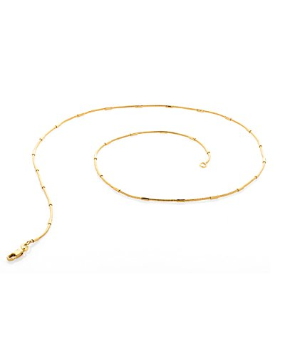 Voylla Delicate Gold Toned Necklace Chain With Gold Patches