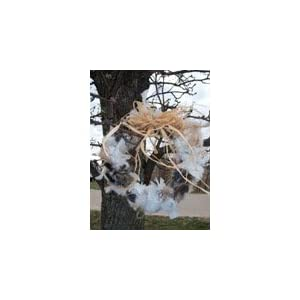 Nesting Material Wreath