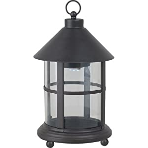 Click to buy LED Outdoor Lighting: Royce Lighting Battery Operated LED Lantern with Clear Glass in Oil-Rubbed Bronze Finish from Amazon!