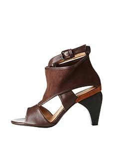 Farylrobin Women's Sara Cutout Sandal Bootie (Brown)