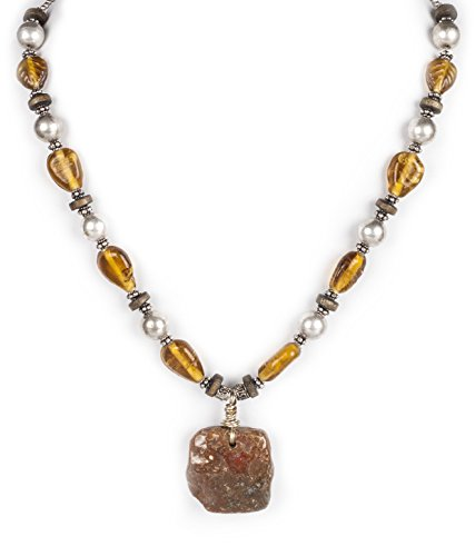 Handmade Synthetic Stone And Metal Fashion Necklace