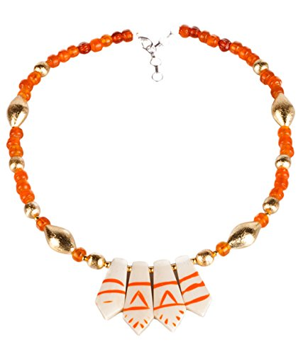 Handmade Synthetic Stone And Metal Fashion Necklace - B00MIJZT9I