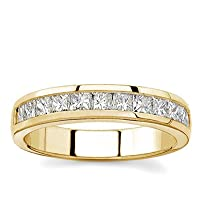 14k White Gold or Yellow Gold Princess-Cut Diamond Band (H/I1, 1 ct. tw.)