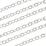 Sterling Silver Cable Chain 4mm Wide -Bulk- Sold By The Foot