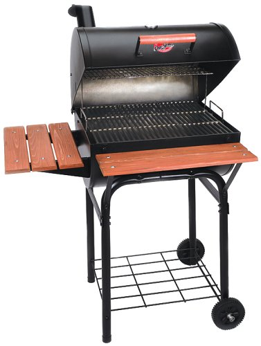 Char-Griller 2123 Wrangler 640 Square Inch Charcoal Grill / Smoker