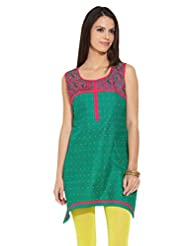 Lovely Lady Ladies Blend Straight Kurta - B00MMENA90
