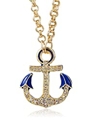 Amrita Singh Chain Necklace For Women (Blue) (AP-214-BLU)