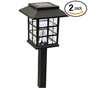 Click to buy LED Outdoor Lighting: Moonrays Mission Style Lamp Solar Powered Plastic Path Light from Amazon!