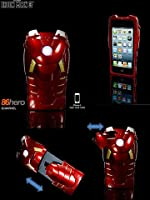 iPhone 5 �v���e�N�g �P�[�X�@�A�C�A���}�� ironman marvel LED���C�g�t��