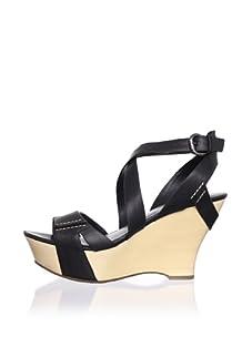 Belle by Sigerson Morrison Women's Colton Wedge Sandal (Black)