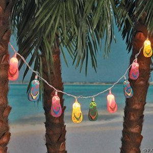 Click to buy 10 Plastic Flip Flop Party String Lights Beach Luau from Amazon!