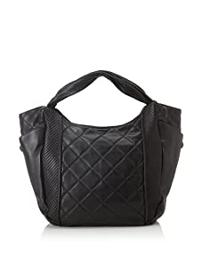 Christopher Kon Women's Adele Large Quilted Tote (Black)