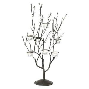 Twig and Leaf Votive Candelabra Candle Holder