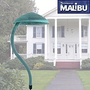 Click to buy Malibu Outdoor Lighting: Malibu Canterbury Collection Aged Brass Light Fixture from Amazon!