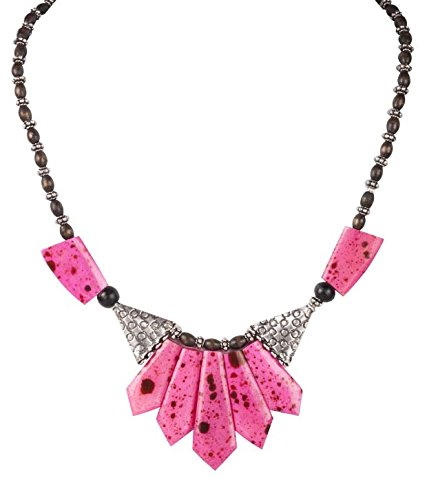 Handmade Synthetic Stone And Metal Fashion Necklace - B00MIK092O