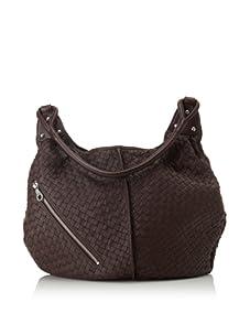 Christopher Kon Women's Matilda Diagonal Zip Bucket Hobo (Brown)