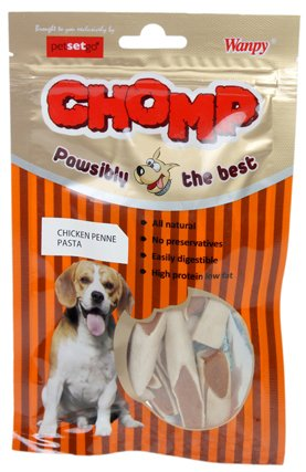 Chomp Chicken Penne Pasta Dog Treat, 80 G