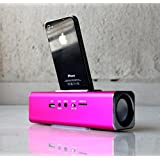 Magnifico Portable Docking Station For Ipods And Iphone Pink