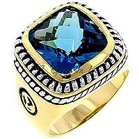 Designer Style Big Stone Ring - Turquoise