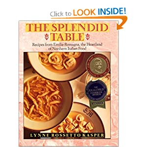 Click to buy Italian Cookbooks: The Splendid Table: Recipes from Emilia-Romagna, the Heartland of Northern Italian Food from Amazon!