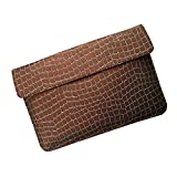 I-KitPit : PU Leather Pouch Case For Videocon VT75C (BROWN) - B00MRM573O