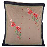 Design Adda Set Of 2 Cushion Covers With Trendy Border Running On Sides And Embellished With Lovely Embroidery...