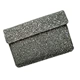 I-KitPit : PU Glitter Sparkling Leather Pouch Case For Alcatel One Touch Tab 7 Dual Core (WHITE)