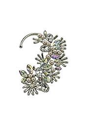 Habors Shinning Crystal Flower Cluster Ear Cuff