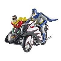 MATTEL 1/12 バットマン クラシック TVシリーズ バットサイクル バットマン&ロビン フィギュア付
