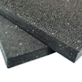 Rubber-Cal Heavy Duty Appliance Mat - 3/4 x 3ft Wide x 4ft Long - Black Rubber Floor Protection Mat