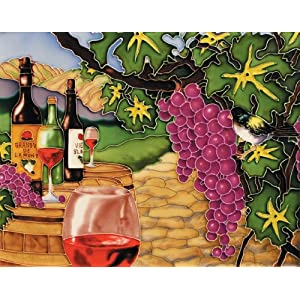 "11""x14"" Art Tile - Wine Yard"