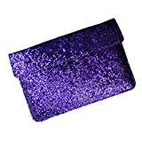 "I-KitPit : PU Glitter Sparkling Leather Pouch Case For Samsung Galaxy Tab 2 ""10.1"" (PURPLE)"