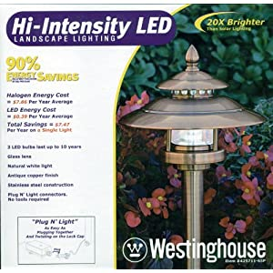 Click to buy LED Outdoor Lighting: Westinghouse Hi-Intensity LED Landscape Lighting Antique Copper Finish from Amazon!