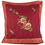 Design Adda Set Of 2 Cushion Covers With Trendy Border Running On All Sides And Embellished With Lovely Embroidery...