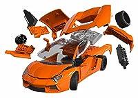 エアフィックス クイックビルドシリーズ ランボルギーニ アヴェンタドール オレンジ 塗装済みブロック式組み立てキット QB6007