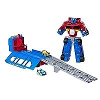 Playskool Heroes c0247 Tra RBT Optimus Prime RaceトラックトレーラーPlayset