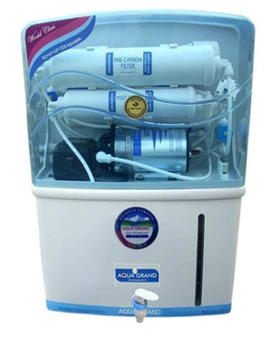 Aquagrand 8 To 10 Ltr 1TDS, 2Activated Carbon, 3RO, 4Post Carbon, Water Puriifer