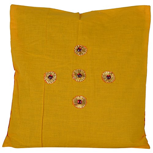 Design Adda Set Of 5 Both Sided Cushion Covers In Beautiful Prints And Gota Work