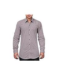 NativeAge Men's Slim Fit Cotton Casual Shirt [Multicolour] - B00MNGPNVA