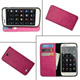 I-KitPit PU Leather Wallet Flip Case For Sony Xperia ZR (PINK)