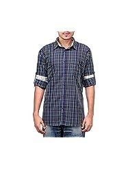 NativeAge Men's Slim Fit Cotton Casual Shirt [Multicolour] - B00MNGNJEI